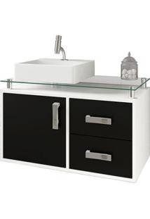 Gabinete De Banheiro Évora 1 Pt 2 Gv Branco E Preto