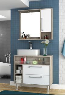 Conjunto Para Banheiro Luise Barrique/Branco Bosi