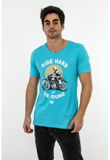 Camiseta Romeo Store Ride Hard Slim Fit - Masculino