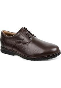 Sapato Social Couro Derby Sandro Moscoloni Leonel Masculino - Masculino-Marrom Escuro