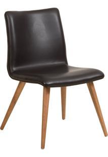 Cadeira Melissa - Couro Preto