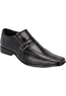 Sapato Social Masculino Estilo Couro Legítimo Leoppé - Masculino-Preto