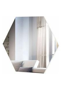 Espelho Hexagono Logus Medio Cor Off White 52 Cm (Larg) - 57970 Sun House