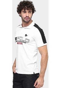 Camisa Polo Rg 518 Piquet Recorte Club Team Brand - Masculino