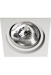 Spot De Embutir Quadrado Basculante 14,5X14,5Cm Branco