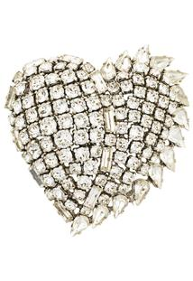 Saint Laurent Broche 'Smoking Heart' - Metallic