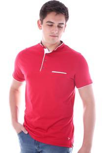 Camisa Polo Cp0718 Vermelho Traymon Modelagem Slim