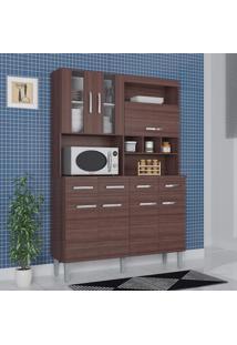 Cozinha Compacta 7 Portas 4 Gavetas Melissa 6280 Capuccino - Poquema