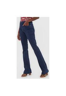 Calça Jeans Cantão Bootcut Cotelê Azul