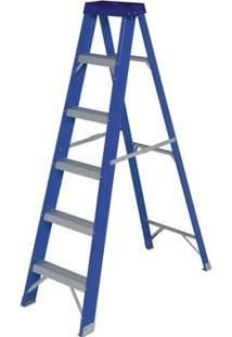 Escada Mor Fibra De Vidro, Dupla, Degraus Em Alumínio Ref 5182- Se