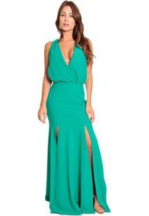 a0e4e35e68 Vestido Crepe Verde feminino