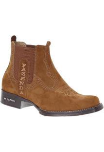 Bota Couro Fazenda Boots 19788 Masculina - Masculino-Caramelo