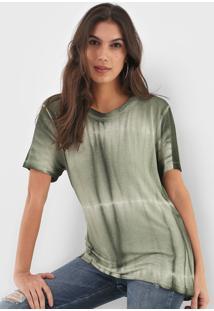 Blusa Ellus Tie Dye Verde - Verde - Feminino - Viscose - Dafiti