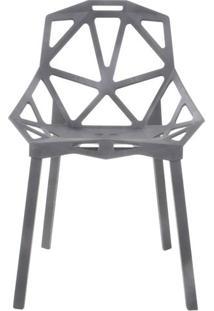 Cadeira Alumi One Polipropileno Preto Base Em Aco Pintado - 40899 - Sun House