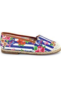 Alpargata Royalz Floral Spring - Feminino-Azul+Branco