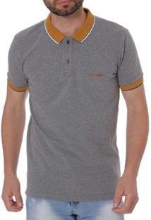 Camisa Polo Haskler Masculina - Masculino-Cinza