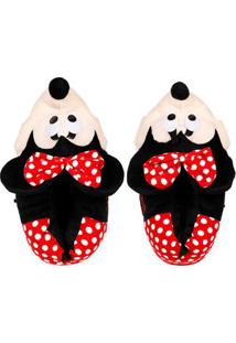 Pantufa Minnie Mouse Feminina Disney Vermelho