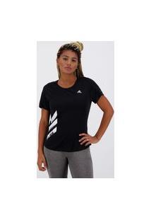 Camiseta Adidas Run It 3S Feminina Preta