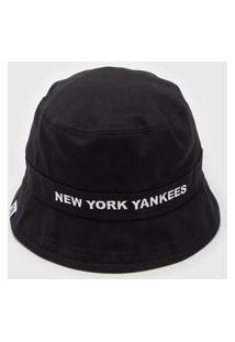 Chapéu New Era Bucket New York Yankees M Preto/Branco