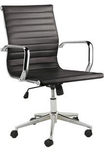 Cadeira Baixa Oficce Pu Sevilha -Rivatti - Preto