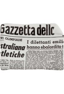 Fornasetti Bandeja Cinza Em Porcelana Modelo 'La Gazzeta Dello Sport'. - Grey