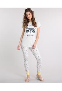 cecc334f6 CEA. Pijama Embutir Com Manga Curta Estampado Feminino ...