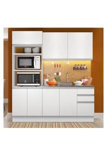 Cozinha Compacta Madesa Laura 7 Portas 3 Gavetas (Sem Tampo E Pia) Branco