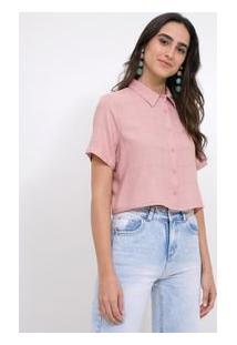 Camisa Em Crepe Com Estampa Geométrica