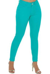 56422a821 ... Calça Jeans Denuncia New Skinny Feminina - Feminino-Verde