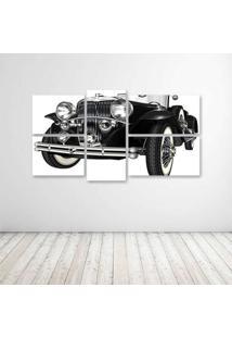 Quadro Decorativo - Black Retro Car - Composto De 5 Quadros - Multicolorido - Dafiti