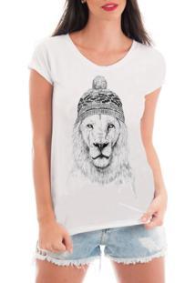 Camiseta Criativa Urbana Rendada Leão De Toca Branca