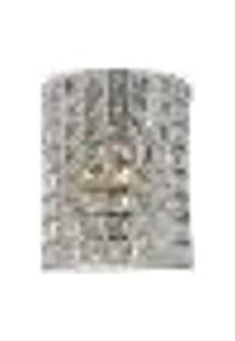Arandela De Cristal Lx I Transparente 1 Lâmpada Bivolt