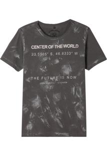 Camiseta John John Rg World Now Malha Algodão Cinza Masculina (Cinza Chumbo, G)
