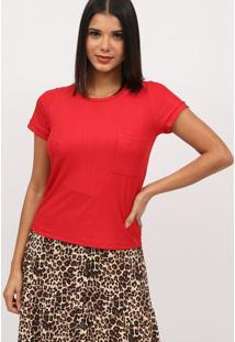 Blusa Texturizada Com Bolso - Vermelha- Milioremiliore