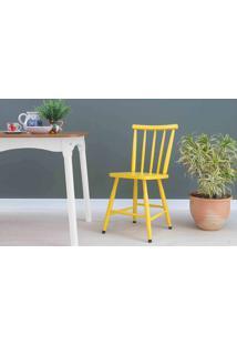 Cadeira De Madeira Mimo Laqueada Amarela 44X41,5X81Cm