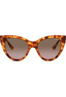 Vogue Eyewear Óculos De Sol Gatinho Oversized - Marrom