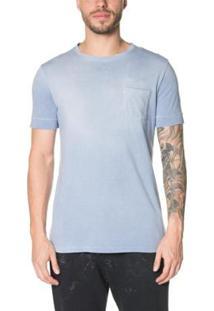Camiseta Timberland Washed Denim Masculina - Masculino-Azul Claro