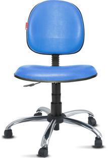 Cadeira Executiva Giratória Cromada Courvin Azul Céu