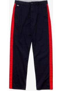 Calça Lacoste Live Loose Fit Masculina - Masculino-Azul+Vermelho
