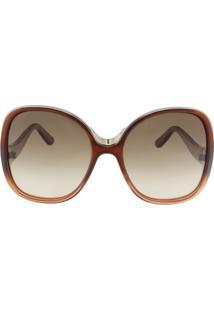 Óculos De Sol Chloé Ce714S 227/59 Vinho Degradê