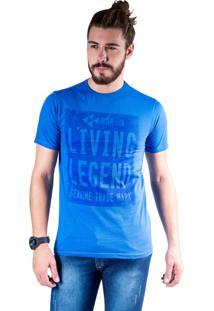 Camiseta Mister Fish Estampado Living Legend Azul Royal