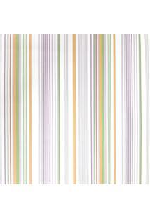 Papel De Parede Fwb Lavã¡Vel Listras Laranja Verde Lilã¡S E Branco - Branco/Lilã¡S/Verde - Dafiti