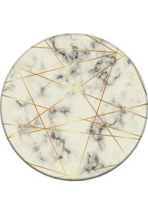 Tapete Love Decor Redondo Wevans Textura Marmore Off White 84Cm