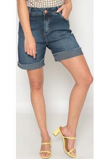 Bermuda Jeans Desfiada - Azul - Morena Rosamorena Rosa