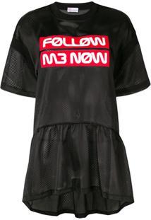 Red Valentino Blusa 'Follow Me Now' - Azul