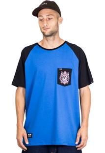 Camiseta Alfa Raglan Pocket Brasao - Masculino