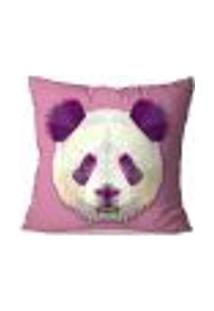 Capa De Almofada Avulsa Decorativa Panda Geométrico 45X45Cm