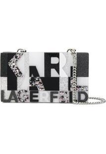 Karl Lagerfeld Clutch K/Karl Com Brilho - Preto