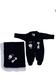 Enxoval Infantil Para Bebê Menino - Azul Marinho