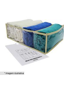Kit Organizador De Toalhas De Banho Com Dobrador Colmeiaboxmania
